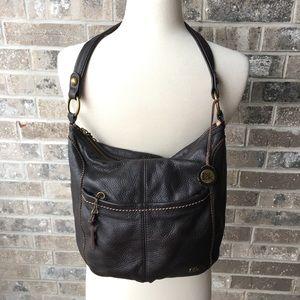 THE SAK Brown Leather Shoulder Bag Hobo Purse